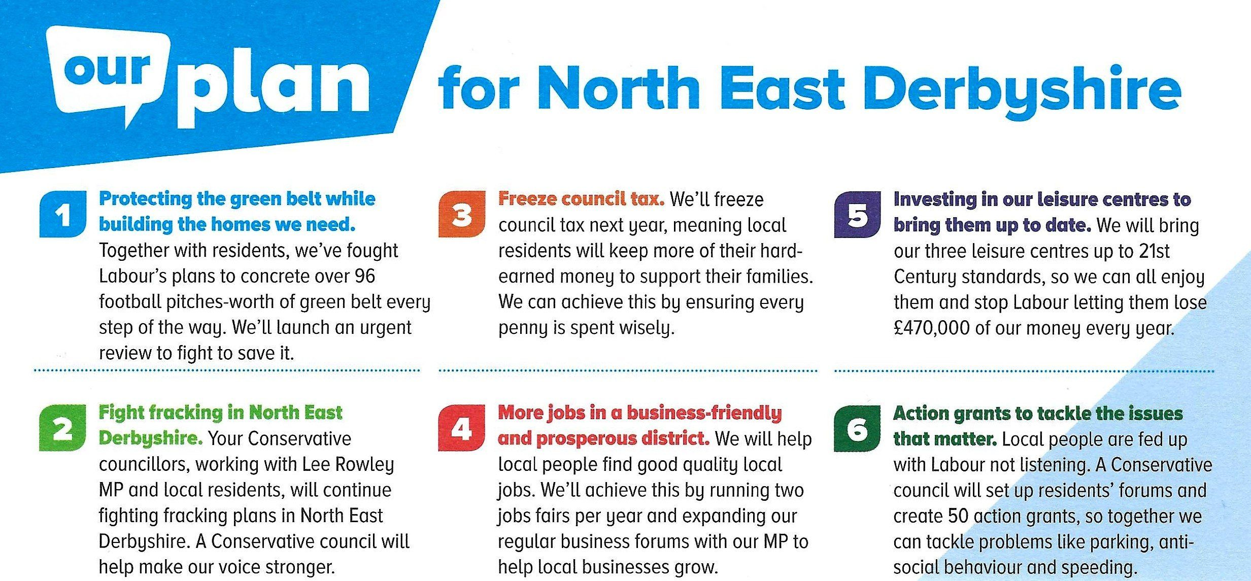 Our Plan for North East Derbyshire