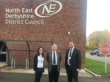 Councillors Charlotte Cupit, Martin Thacker and Alex Dale at NEDDC